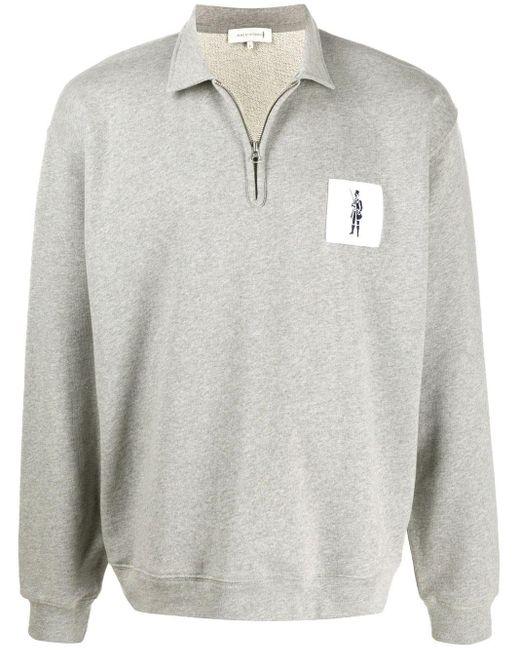 メンズ Mackintosh ジップ スウェットシャツ Gray