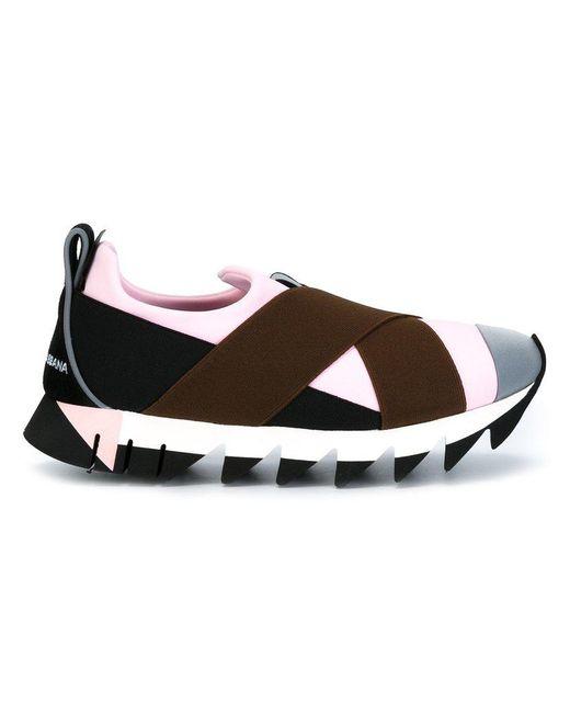 Dolce & Gabbana - Black Neoprene Slip-on Sneakers - Lyst