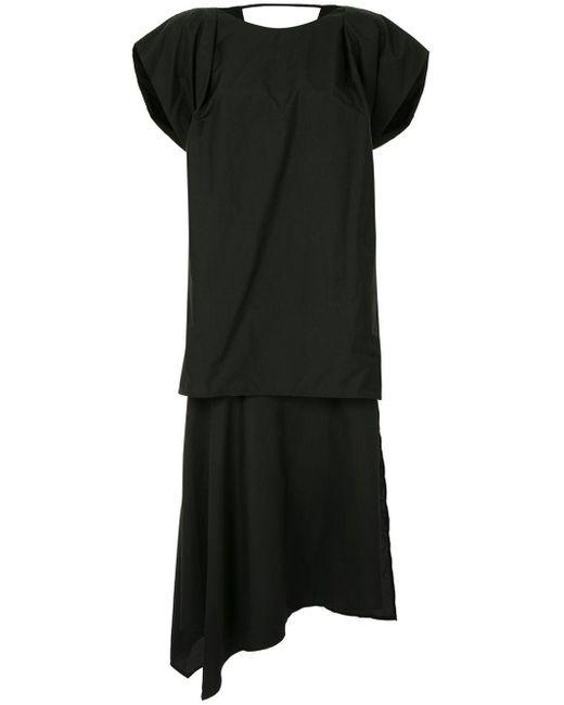 Juun.J ストラクチャースリーブ ドレス Black