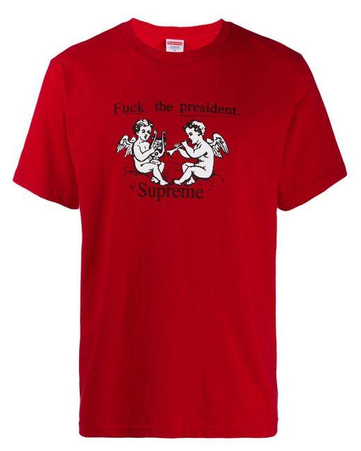 メンズ Supreme Ftp Tシャツ Red
