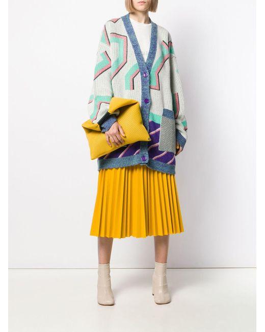 Maison Margiela MM6 100/% Silk Multi-Color One Shoulder Women/'s Sarong Dress S M
