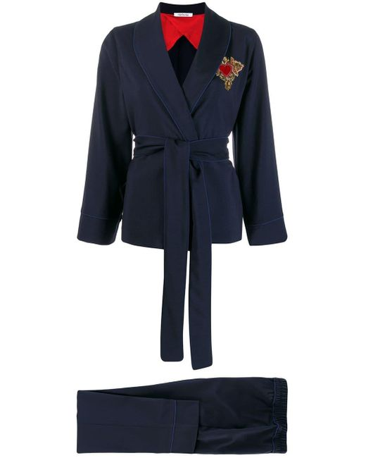 Parlor Blue Two Piece Suit