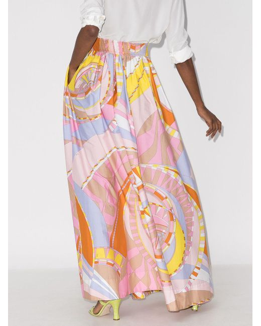 Emilio Pucci Wally グラフィック スカート Pink