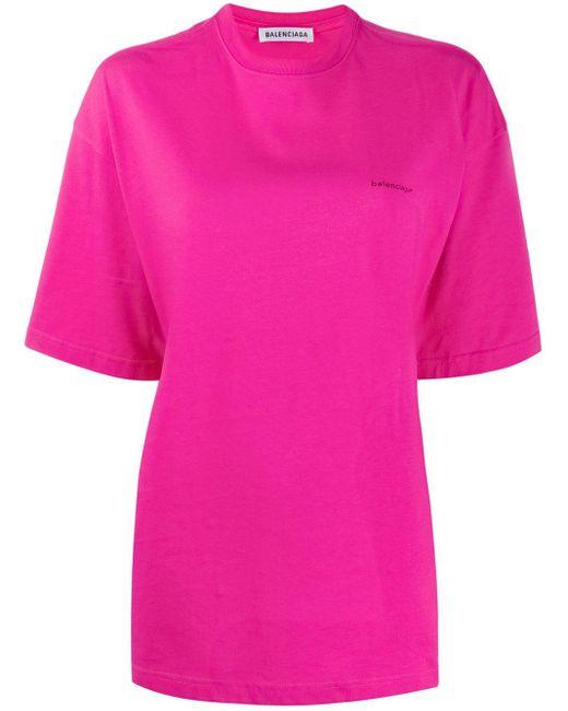 Balenciaga ロゴ Tシャツ Pink