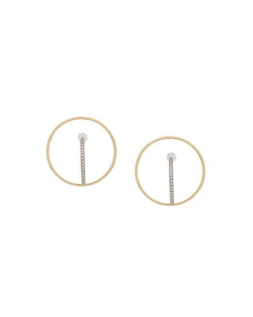 Charlotte Chesnais - Metallic 18kt Yellow And White Gold Saturn M Diamond Earrings - Lyst