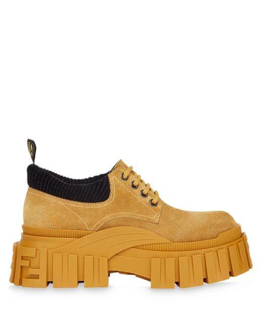 Массивные Ботинки На Шнуровке Fendi для него, цвет: Yellow
