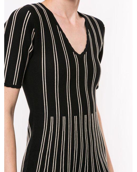 Twin Set ストライプディテール ドレス Black