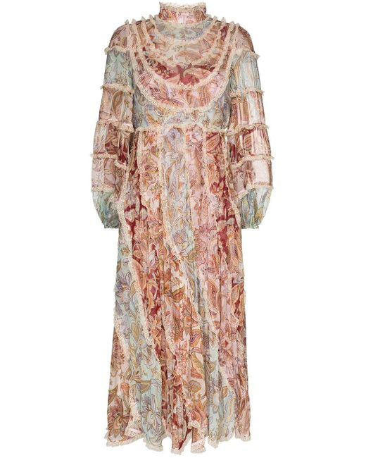 Zimmermann Ladybeetle フローラル ドレス Pink