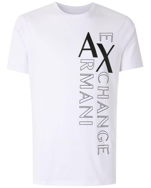 メンズ Armani Exchange ロゴ Tシャツ White