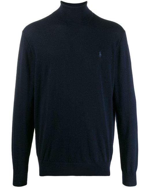メンズ Polo Ralph Lauren タートルネック セーター Blue