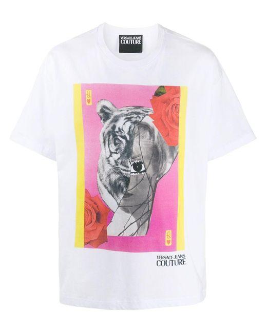 メンズ Versace Jeans グラフィック Tシャツ White
