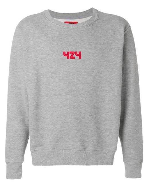 メンズ 424 ロゴ Tシャツ Gray