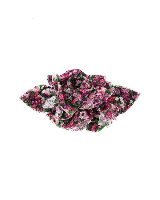 Брошь С Цветочной Аппликацией Philosophy Di Lorenzo Serafini, цвет: Pink
