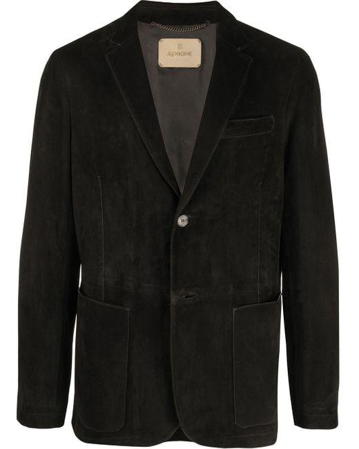 Blazer ajusté en daim AJMONE pour homme en coloris Black