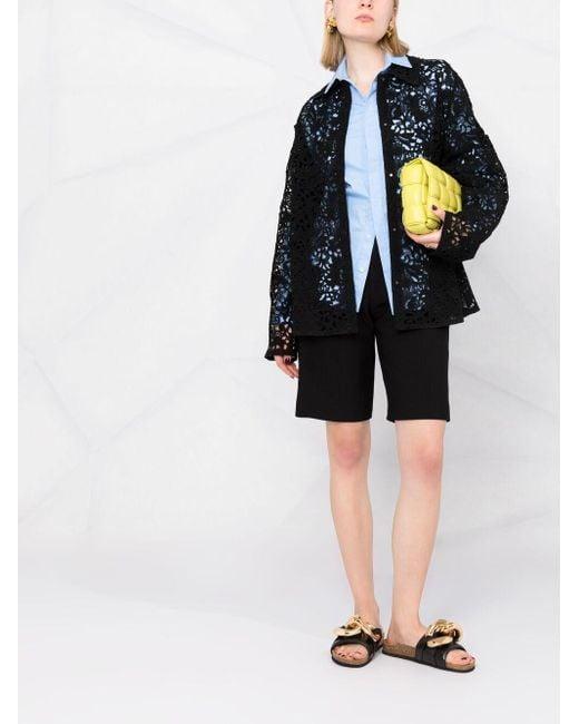 Куртка-рубашка С Цветочным Кружевом Valentino, цвет: Multicolor