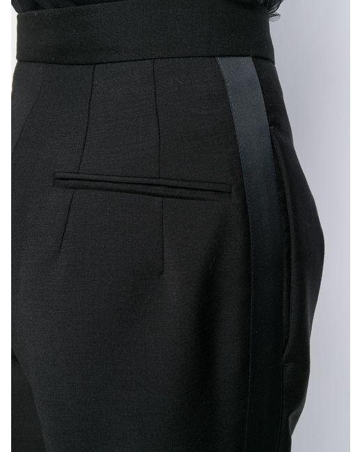 Pantaloni sartoriali a vita alta di N°21 in Black