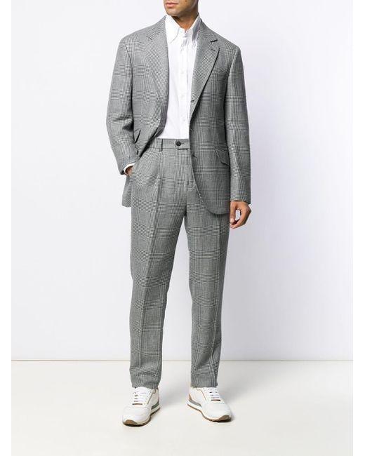 Классическая Рубашка Brunello Cucinelli для него, цвет: White