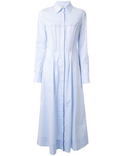 Gabriela Hearst ロング シャツドレス Blue