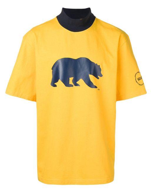 メンズ CALVIN KLEIN 205W39NYC オーバーサイズ Tシャツ Yellow