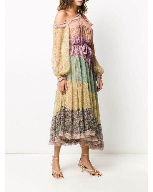 Zimmermann Carnaby フローラル ドレス Multicolor