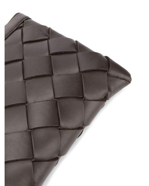 Клатч На Молнии С Плетением Intrecciato Bottega Veneta для него, цвет: Brown