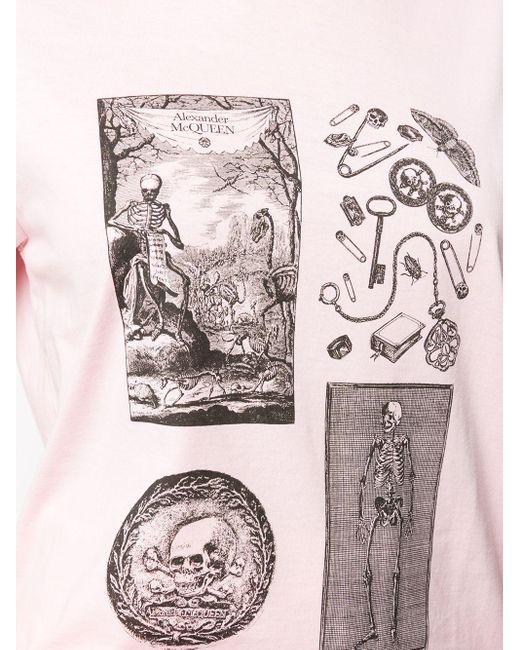 Alexander McQueen スカルパターン Tシャツ Pink