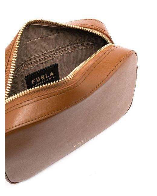 Мини-сумка Через Плечо Block Furla, цвет: Brown