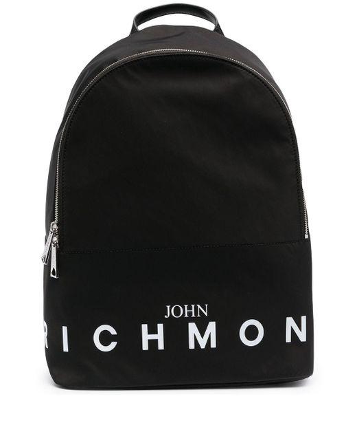 メンズ John Richmond ロゴ バックパック Black