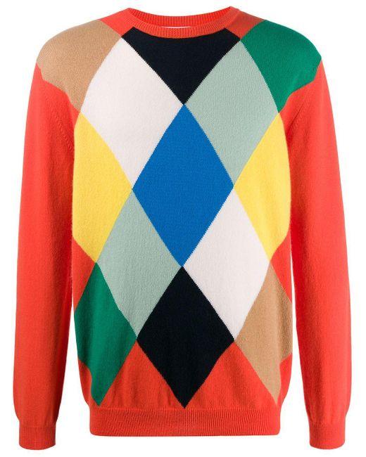 メンズ Pringle of Scotland アーガイル セーター Multicolor