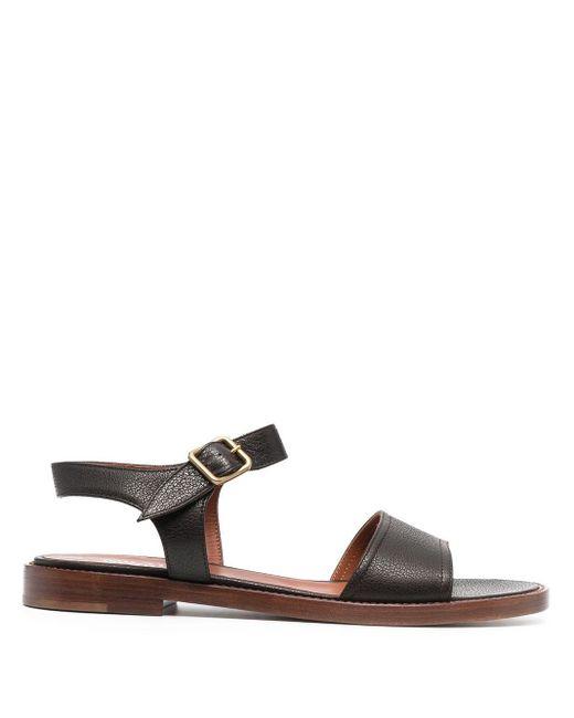 Michel Vivien Brown Caye Low-heel Sandals