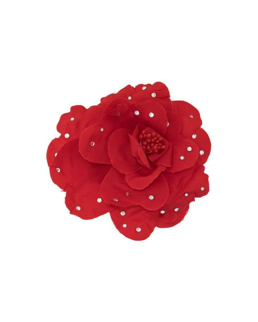 Декорированная Брошь Со Стразами Philosophy Di Lorenzo Serafini, цвет: Red