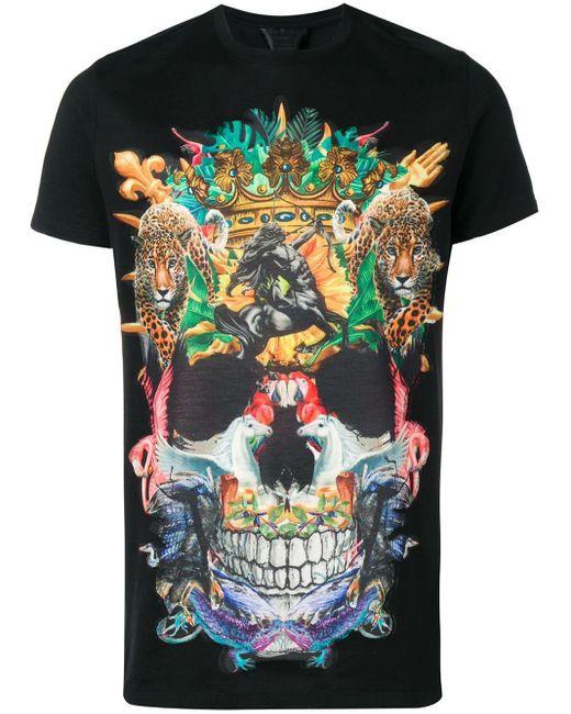 Philipp Plein T-Shirt mit Totenkopf in Black für Herren