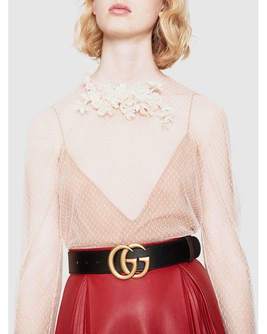 Ремень С Пряжкой-логотипом GG Gucci, цвет: Black