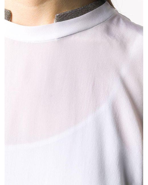 Топ С Декором Monili Brunello Cucinelli, цвет: White