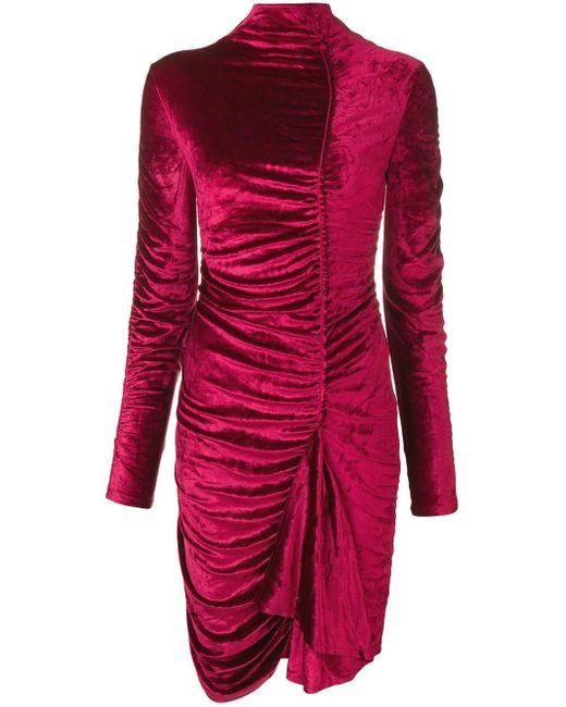 KENZO シャーリング タートルネック ドレス Pink