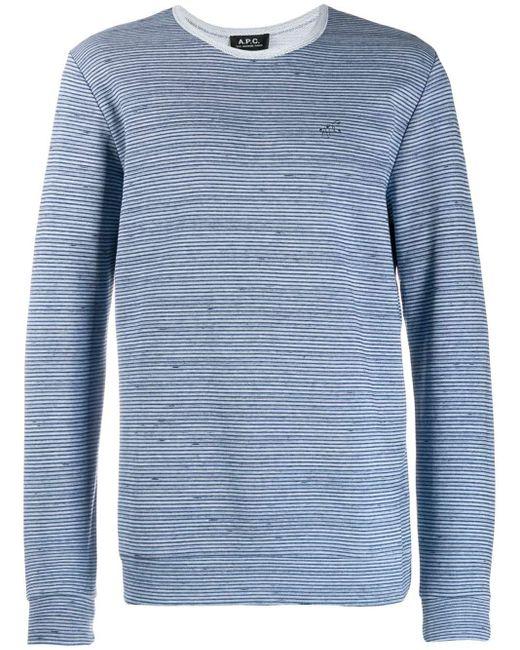 メンズ A.P.C. ストライプ セーター Blue