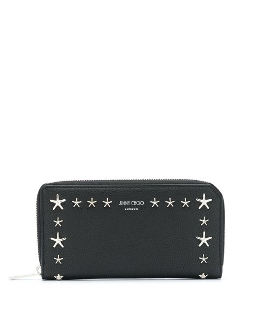 Jimmy Choo Black Star Studded Wallet for men