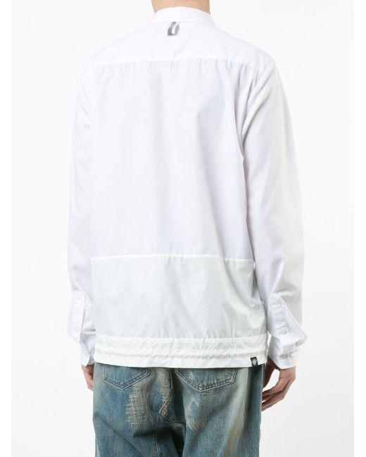 メンズ Mostly Heard Rarely Seen ドローストリングヘムシャツ White