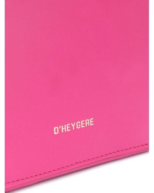 Dheygere ダブルジップ ハンドバッグ Pink