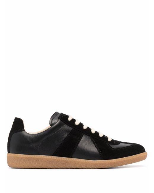 Maison Margiela Black Replica Low-top Sneakers for men