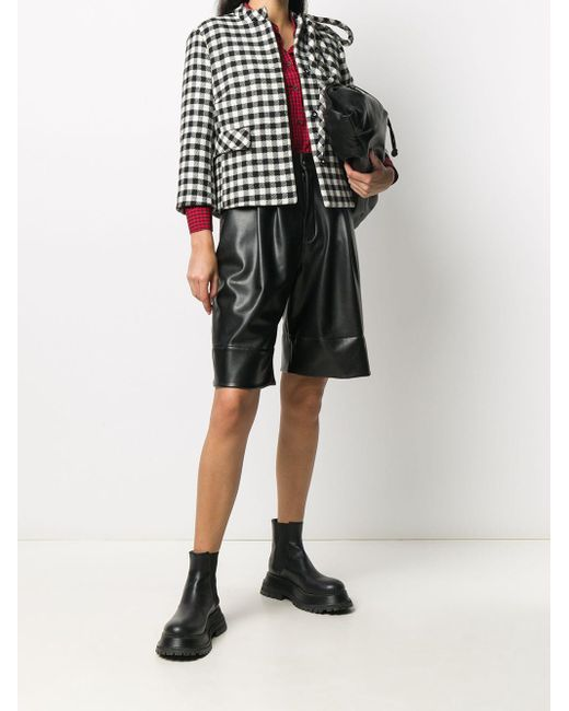 RED Valentino チェック クロップドジャケット Black