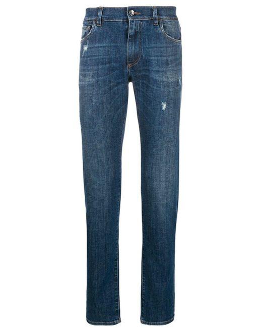 メンズ Dolce & Gabbana スリムジーンズ Blue