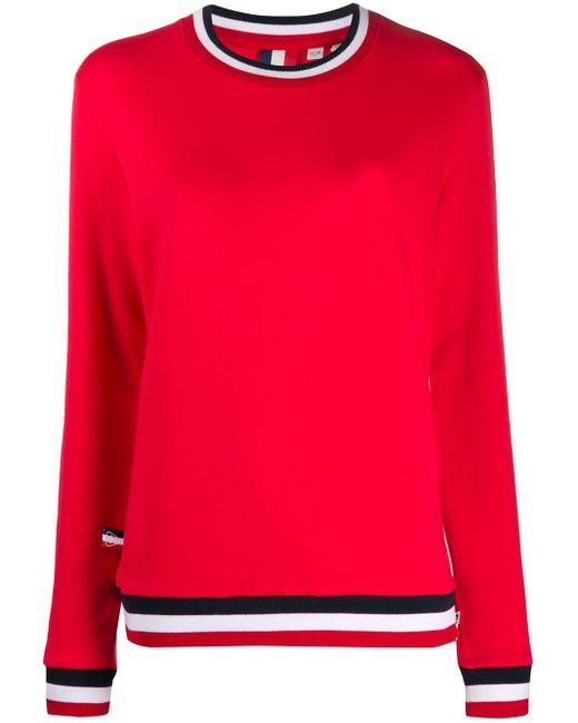 Rossignol ストライプ スウェットシャツ Red