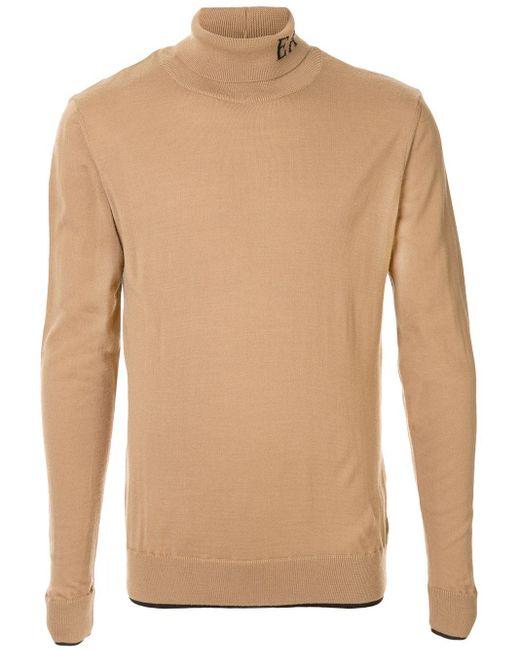 Джемпер С Высоким Воротником И Логотипом Emporio Armani для него, цвет: Brown