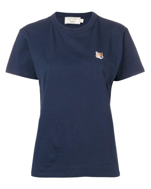 Maison Kitsuné エンブロイダリー Tシャツ Blue