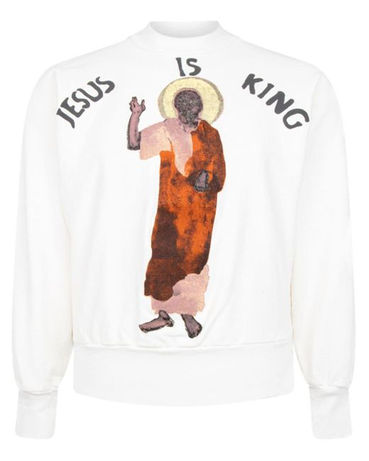 Sweat 'Jesus Is King' Giuseppe Zanotti pour homme en coloris White