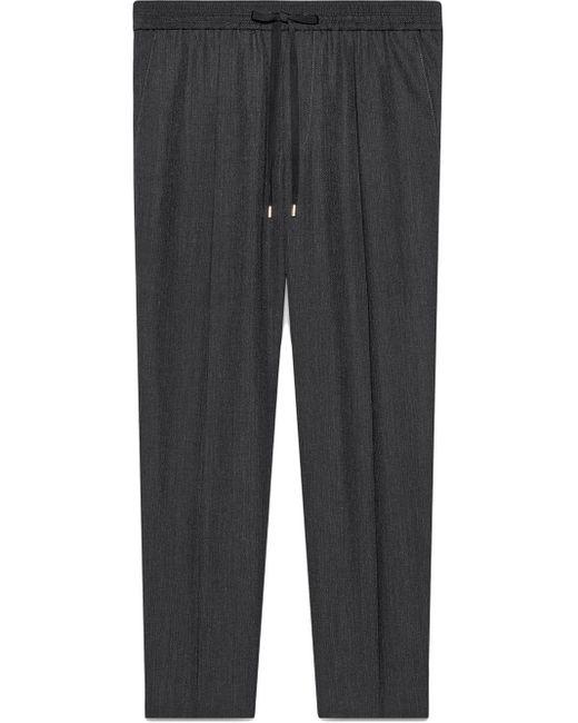 メンズ Gucci グッチウール テーラード ジョギングパンツ Gray