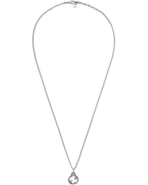 Gucci Metallic Interlocking G Pendant Necklace