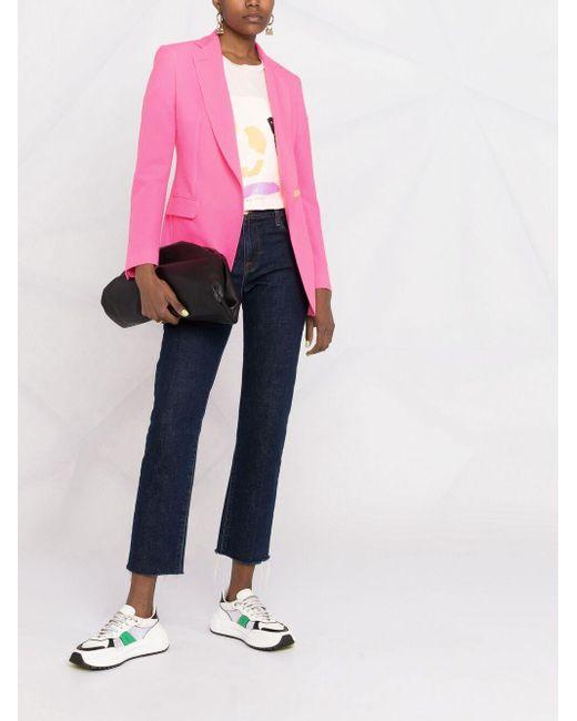 Tagliatore オフセンターボタン ジャケット Pink