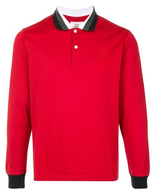 メンズ Kent & Curwen コントラストトリム ポロシャツ Red